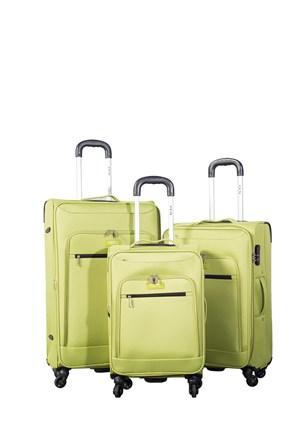 Ççs Kumaş Valiz Ççs5119-Set-Yeşil