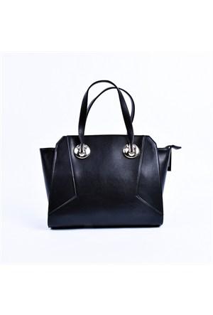 Rosa Bayan Çanta Düz Renk Siyah El Çantası 29976