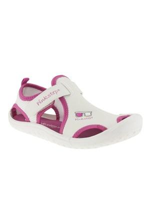 Pink Step 257 Jupıter-4B Beyaz Sandalet
