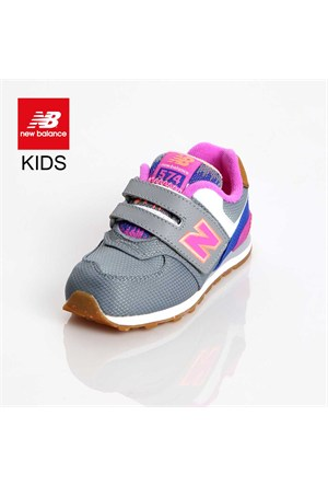 New Balance Kg574e9i Kids İnfant Grey Pink Ayakkabı