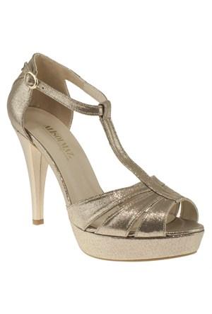 Alisolmaz 285 3035Z Altın Abiye Ayakkabı