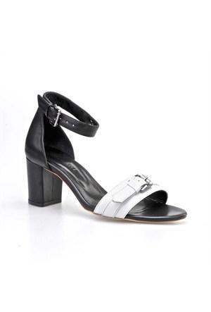 Cabani Topuklu Kadın Ayakkabı Beyaz Deri