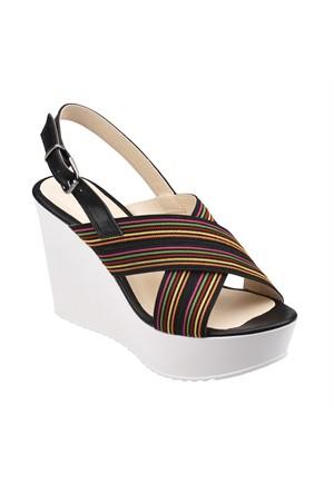 Polaris 61.308555.Z Siyah Kadın Sandalet