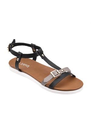 Polaris 61.308638.Z Siyah Kadın Sandalet