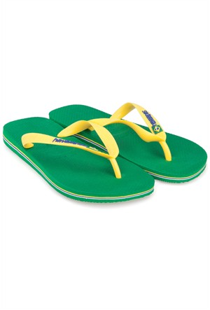 Havaianas Brasil Logo Yeşil Terlik