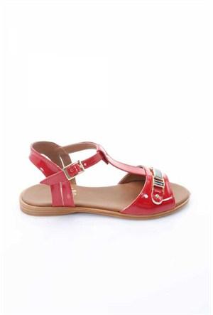Shoes&Moda Kırmızı Rugan Kadın Sandalet 509-1016-1400205