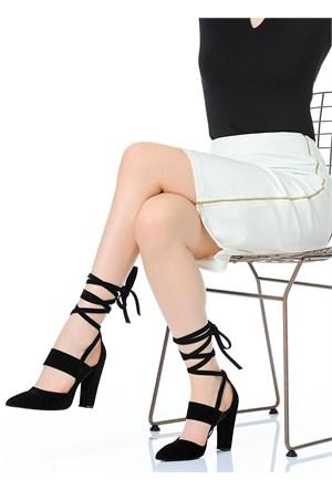 Derigo Kadın Topuklu Ayakkabı Siyah