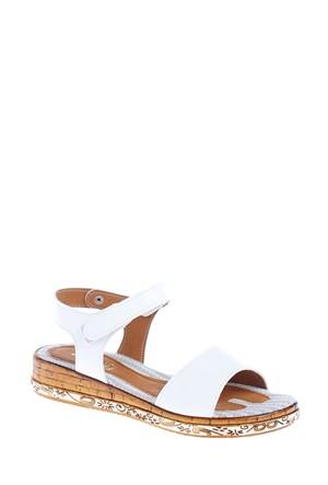 Derigo Kadın Sandalet Beyaz