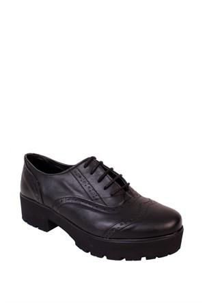 Azer Ayakkabı Siyah Günlük Kadın - 501 Zenne Ayakkabı