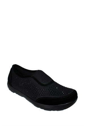 Doğal Ayakkabı Siyah Taşlı Spor Kadın Ayakkabı - 100