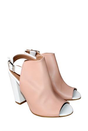 E - G Ayakkabı Pudra Klasik Kadın Ayakkabı - 151