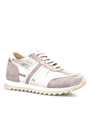 Cabani Bağcıklı Kadın Ayakkabı Bej