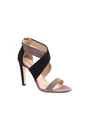 Cabani Çapraz Bağ Kadın Ayakkabı Vizon Süet