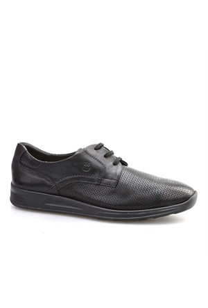 24 Hrs Esnek Günlük Erkek Ayakkabı Siyah Deri