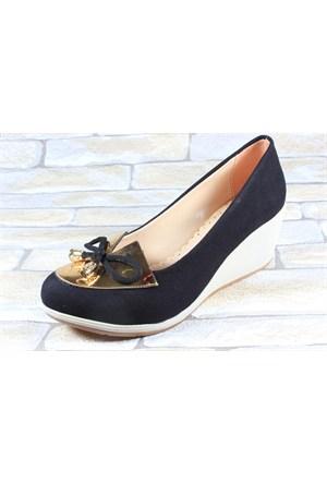 Capriss 510 Siyah Kadın Keten Ayakkabı