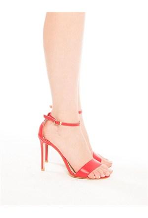 Mecrea Exclusive Dolce Vita Kırmızı Topuklu Sandalet