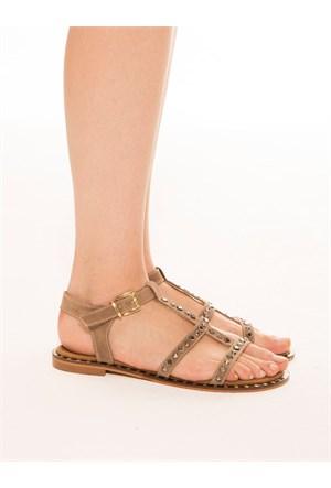 Mecrea Exclusive Aisey Vizon Taşlı Sandalet