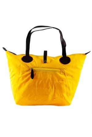 Bigg Fashion Sarı Katlanabilir Çanta