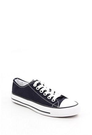 Gön Lacivert Keten Trend Kadın Ayakkabı 35992