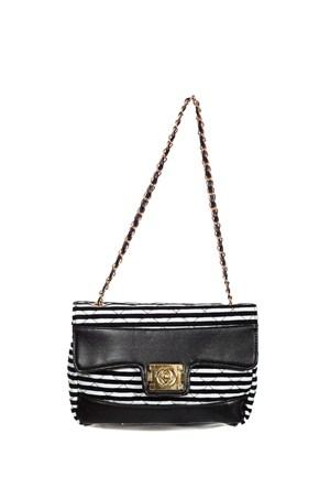 Gnc Bag Kadın Çanta Siyah Beyaz Gnc6077-0002
