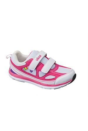 Vicco Çift Cırtlı Kız Phylon Ayakkabı Fuşya