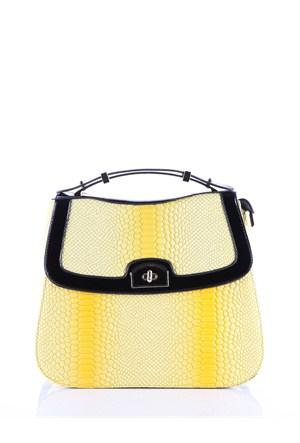 Rosa H9862 Yellow-Kroko Bayan Çanta