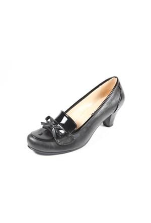 Ella 255-211 Siyah Kadın Topuklu Ayakkabı