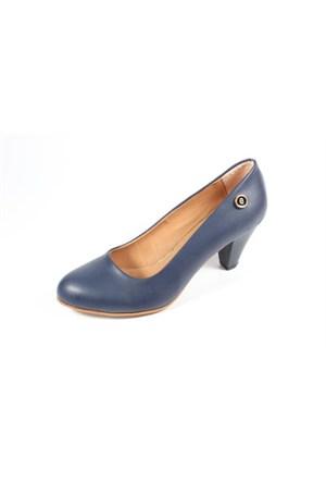 Ella 255-91 Lacivert Kadın Topuklu Ayakkabı