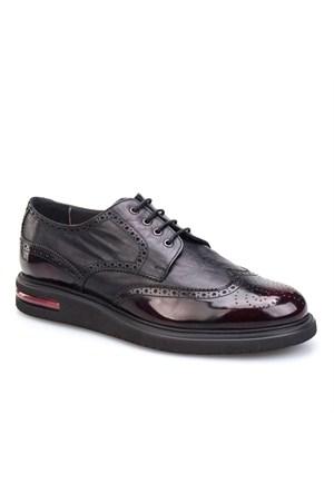 Cabani Oxford Günlük Erkek Ayakkabı Bordo Analin