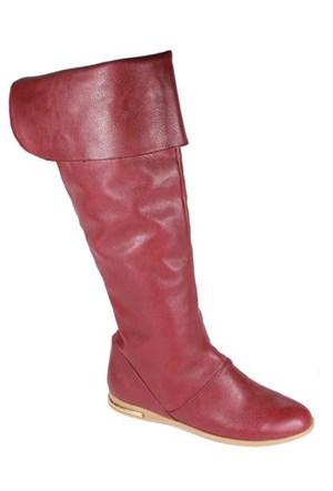 Felly 243-Bihter Bordo Kadın Çizme