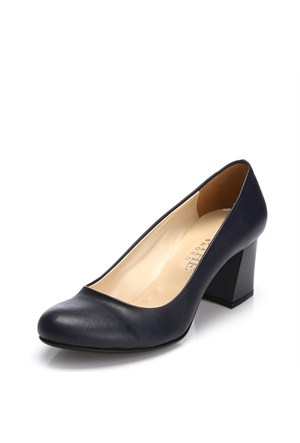 Sothe MAS-016 Lacivert Bayan Klasik Topuklu Ayakkabı