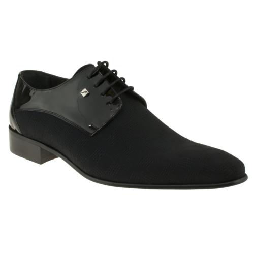 Fosco 6094 Damali Bağlı Klasik Siyah Erkek Ayakkabı