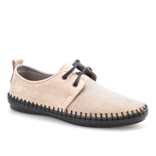 Cabani Lazerli Erkek Ayakkabı Bej Nubuk