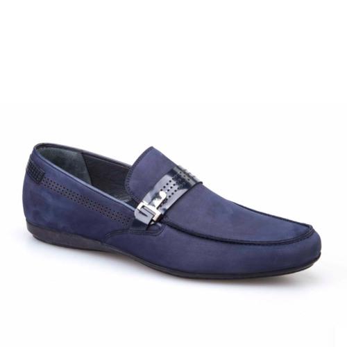 Cabani Kemerli Erkek Ayakkabı Lacivert Nubuk