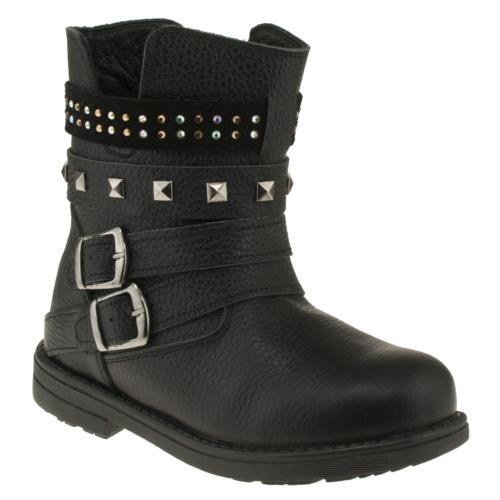 Perlina 451-2 Cift Toka Troclu Siyah Çocuk Çizme