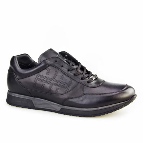 Cabani Yeni Sezon Günlük Erkek Ayakkabı Siyah Analin Deri