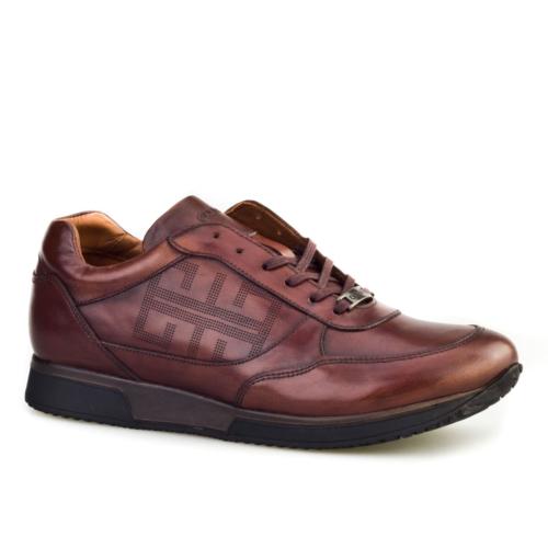 Cabani Yeni Sezon Günlük Erkek Ayakkabı Kahverengi Sanetta Deri