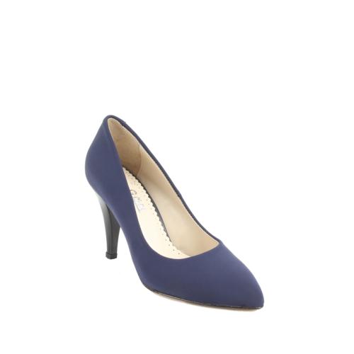 Gön Deri Kadın Ayakkabı 20292 Lacivert Streç