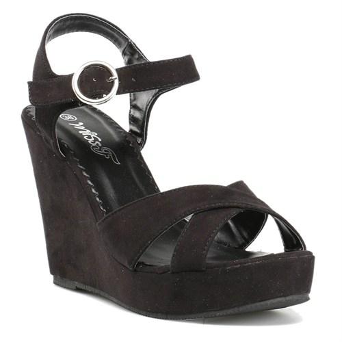 Miss F R132078 Siyah Kadın Sandalet