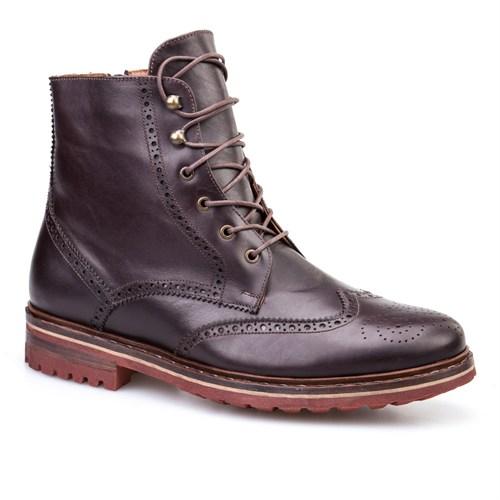 Cabani Bağcıklı Günlük Erkek Ayakkabı Kahverengi Deri
