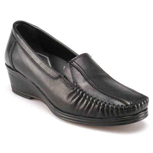 Polaris 5 Nokta 52.107538.Z Siyah Kadın Deri Ayakkabı