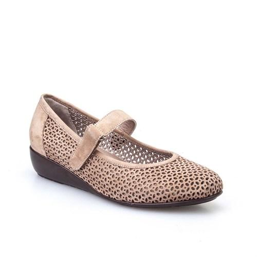 Cabani Kadın Ayakkabı Bej Nubuk