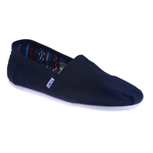 Toms Black Canvas Mn Clsc Alprg Nl 10000862 Erkek Ayakkabı Black Canvas