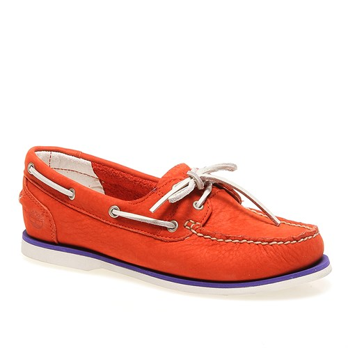 Timberland Ek Classic Boat Oran Orange 8860R Kadın Bot Orange