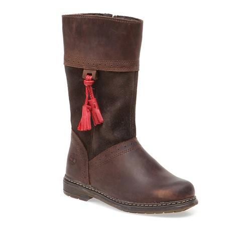 Timberland Ek Amesbury Girls Tall Boot 8289R Çocuk Bot Dk Brown