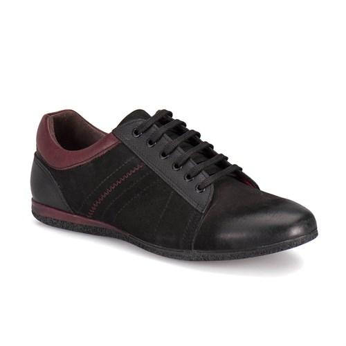 Oxide 8248 M 1453 Siyah Bordo Erkek Deri Ayakkabı