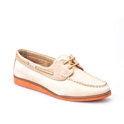 Cabani Nubuk Hakiki Deri Kadın Ayakkabı Bej Nubuk