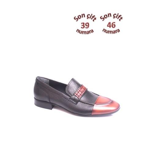 Erkan Kaban 352323 045 213 Erkek Siyah-Taba Klasik Ayakkabı