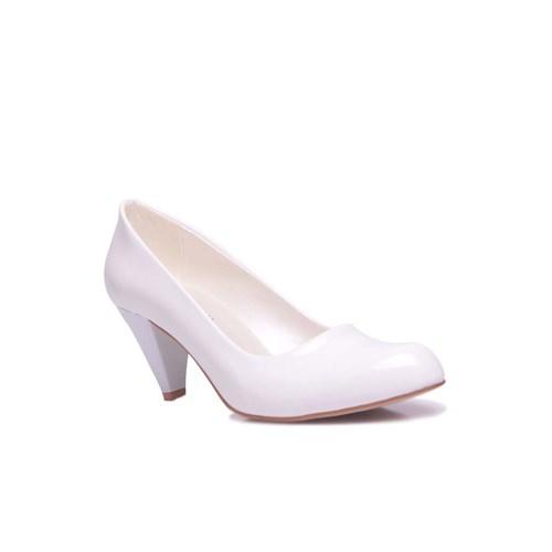 Loggalin 580720 468 Kadın Beyaz Rugan Ayakkabı
