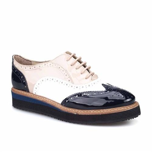 Cabani Kadın Ayakkabı Lacivert Rugan